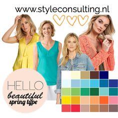 Informatie, kenmerken, kleren, kleuren, make-up lentetype   Style Consulting Bright Spring, Warm Spring, Spring Colors, Hello Beautiful, Nicole Kidman, Make Up, Hourglass, Blog, Beauty