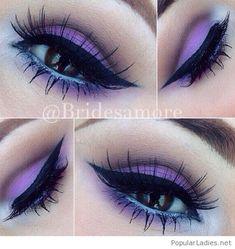 Sweet purple eye makeup inspire