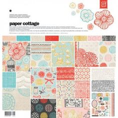 """Paper Cottage Collection Pack $12.80 (reg. $!6) Pack includes 12 (12"""" x 12"""") double-sided papers, one sheet coordinating alphabet stickers and one sheet coordinating element stickers. Acid & lignin free."""