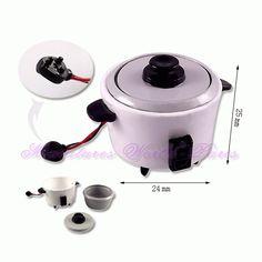 Cuiseur à riz en métal - DM63 1/12ème #maisondepoupées #dollhouse #cuiseur #ricecooker #meuble #furniture #miniature #metal