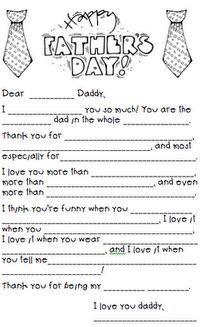 "Father's Day ""mad lib"" freebie"
