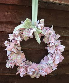 I wanted to show you something a little bit different today. Its a rag wreath that I made for my friend Jo for her birthday! I found the id...