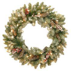 Found it at Wayfair - Dunhill Fir Wreath with 50 Clear Lights