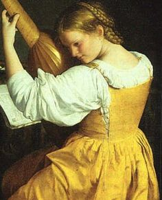 Woman with a Lute, 1610 Orazio Gentileschi