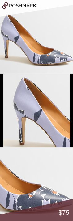 Sale! NWT J. Crew Isabelle Floral Pumps in Navy New in box. Exactly as pictured. Heel is 3.25 inches high. Slightly pointed toe. Questions and offers are welcome  J. Crew Shoes Heels