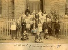 Hilliard PrimarySchool, OH, 1879 - primary schools were a fairly late invention, with most schools being of the one-room variety
