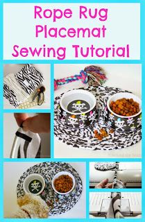 Behind the Seams Sewing: Rope Rug Placemat Sewing Tutorial Sewing Blogs, Sewing Kit, Sewing Tutorials, Sewing Crafts, Sewing Projects, Diy Projects, Diy Crafts, Rope Rug, Machine Quilting