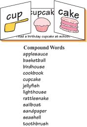 Compound word mini book
