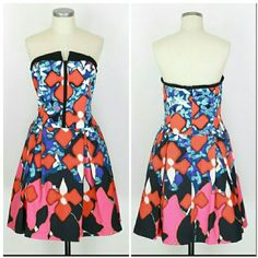 "Peter Pilotto strapless party cocktail dress Sz 14.  Peter Pilotto for Target strapless dress. Lined. Back zip.  Approx measurements Bust 34"" Waist 35""  Excellent like new condition. Peter Pilotto for Target Dresses Strapless"
