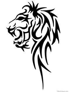 Tattoo Above Males Nipple And Tribal Leo Lion Head Horoscope Sign ...
