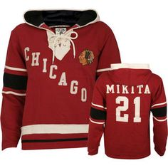 Old Time Hockey- -Stan Mikita Old Time Hockey NHL Lace Hooded Alumni  Chicago Blackhawks c01e5dab6