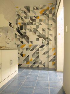 Coletivo MUDA Azuleijo mosaico // tile mosaic