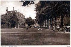 St Peter's Green, Bedford. See our old postcards of Bedford at www.oldstratforduponavon.com/bedford