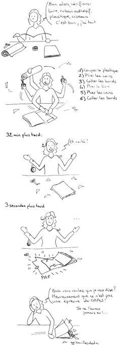 Couvrir les livres, par Gribouilles de doc