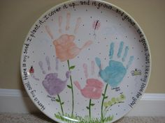 This is what we're doing for our next Family Day! A 'paint your own pottery' place and putting Delilah's handprints on a piece of pottery! Can't wait!