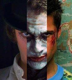 SOME MEN JUST WANT TO WATCH THE WORLD BURN.        Alex (Clockwork Orange); The Joker (The Dark Knight); Tyler Durden (Fight Club)