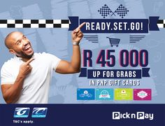 Stand a chance to win BIG with Greyhound and Pick n Pay! Book your Greyhound ticket at a participating Pick n Pay store and stand a chance to win your share of R45 000 in shopping vouchers! How to enter: - Book your Greyhound bus ticket at a participating Pick n Pay store - SMS your name, surname and ticket reference along with the keyword 'PICK' to 45211 Book today! T & C's Apply https://www.greyhound.co.za/amazing-race-competition-tc-pick-n-pay/ Entries close 31 August 2017