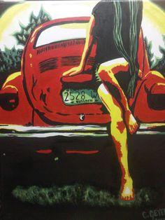 beetle lady pop art