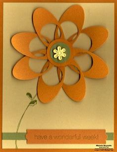 flower with oval and circle punch. If you don't have an oval punch use the Cricut to cut them out and you can make multiples.