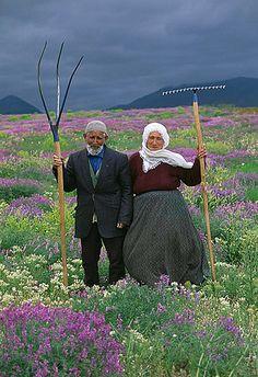 farming couple, somewhere in Asia, Art Wolfe Fine Art Prints