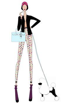 fashion design, sketch, style, clothing, fashion illustration, dog, hermés. Nanipizzolo
