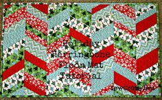 Holiday Herringbone Floor Mat by sewcraftyjess, via Flickr  I wouldn't make this with Christmas fabric but I love the floor mat idea.