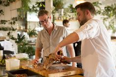Discover how chef, Sven-Hanson Britt hosted exclusive Farm to Fork dining experiences that showcased the finest British produce and traditions at John Lewis Pop Up Restaurant, Chef Food, Executive Chef, Chef Recipes, Fork, Portland, Drawer, Oven, Appliances