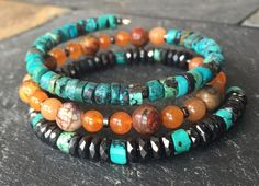 Hey, I found this really awesome Etsy listing at https://www.etsy.com/listing/245284398/turquoise-jade-pyrite-wrap-bracelet