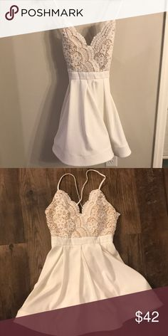 486f77fddf White Luxxel boutique dress Worn only once for my rehearsal dinner, like  NEW! The