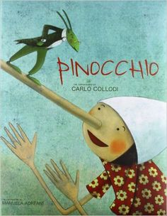 "Manuela Adreani cover illustration for ""Pinocchio"", White Star Publishers. Pinocchio, Cartoon Network Adventure Time, Adventure Time Anime, Agatha Christie, Modern Family Quotes, The Mindy Project, American Dad, Children's Book Illustration, Illustration Children"