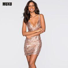 MUXU gold sequin dress sexy summer plus size women clothing vestidos mujer  fashionable dresses bodycon vestidos e302651f45d8