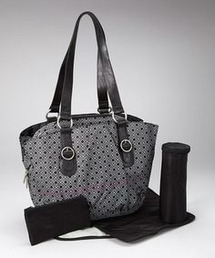 Black Glam Whizzy Diaper Bag by Lässig on #zulily