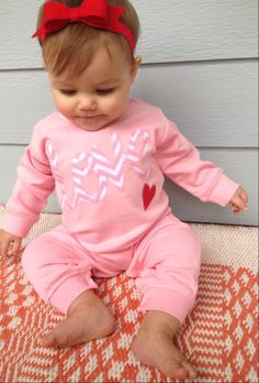 valentine baby girls love romper heart outfit by sweet sprouts by ohsweetsprouts on Etsy https://www.etsy.com/listing/218375828/valentine-baby-girls-love-romper-heart