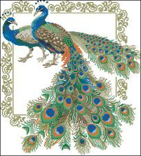 Peacock+Cross+Stitch+Patterns | Newly listed Bird Peacock Cross Stitch Pattern Chart