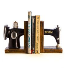 Sewing machine bookends!