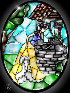 Stained glass Snow White by CallieClara.