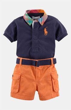 Ralph Lauren Polo & Shorts (Infant) | Nordstrom