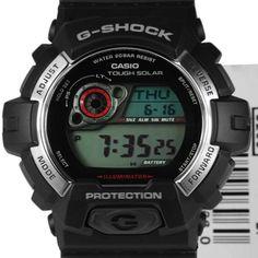 0417b407fe GR-8900-1DR Casio G-Shock Tough Solar Resin Band WR200m Mens Watch