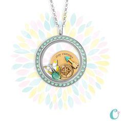 Origami Owl Large Mint Face Locket from new Spring 2015 collection. www.elizabethjenkins.origamiowl.com
