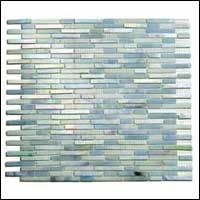 Emenee Encata Collection TLGM2222-BOP ; TLGM2222 BOP Mesh Mounted Stained Glass Small Stick 1/4 inch x 2 inch BOP-Blue Opal