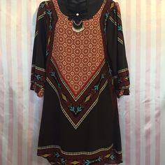 Small tunic SMALL bohemian tunic No stretch  Bohemian tunic  True to size India print Dresses