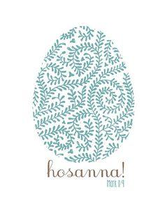 Mostly Homemade Mom: Free Hosanna! Easter Printables