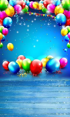 HUAYI 5x10ft birthday ballon photography newborn backdrop  D-9944