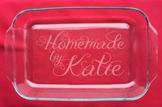 Personalized 3 Qt Casserole Dishes Etched by SpottedMoonGifts