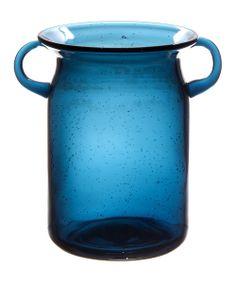 Look at this #zulilyfind! St. Blue Vintage 8'' Vase by Home Essentials and Beyond #zulilyfinds