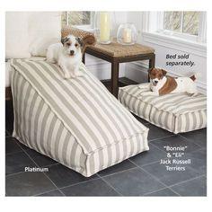 Lightweight Regatta Stripe Go-Anywhere Pet Ramp - Dog Beds, Gates, Crates… Dog Steps For Bed, Dog Ramp For Bed, Pet Ramp, Dog Furniture, Steel Furniture, Furniture Cleaning, Furniture Dolly, Dog Shop, Dog Rooms