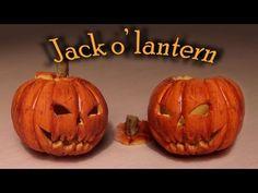 ▶ Halloween: Polymer clay Jack o' lantern tutorial