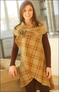 The 5-Way Wrap (IJ957) sewing pattern provides five fashionable looks in one quick & easy design.  Make from two-sided fabric such as fleece, flannel, batiks, wool or linen.  Sizes S/M or L/XL. From IndygoJunction.com