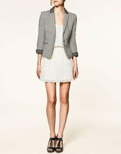 ZARA love the pleated skirt!
