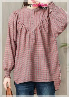 new pink plaid cotton blouse casual loose long sleevel tops - new pink plaid cotton blouse casual loose long sleevel tops Source by DressOriginal - Girls Dresses Sewing, Stylish Dresses For Girls, Stylish Dress Designs, Designs For Dresses, Trendy Clothes For Women, Trendy Outfits, Casual Tops For Women, Pakistani Dresses Casual, Pakistani Dress Design